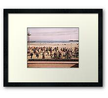 Along the beach, Atlantic City, NJ 1905 Colorized Framed Print