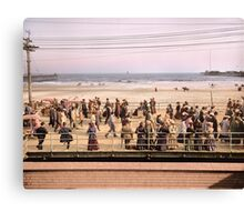 Along the beach, Atlantic City, NJ 1905 Colorized Canvas Print