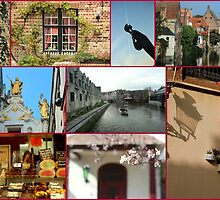 Collage from Belgium 2 - Travel Photography by JuliaRokicka