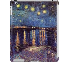 Starry Night over the Rhone, Vincent van Gogh. iPad Case/Skin
