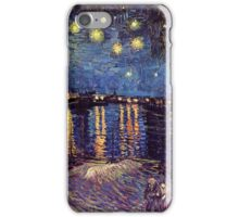 Starry Night over the Rhone, Vincent van Gogh. iPhone Case/Skin
