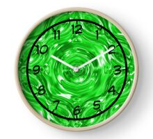 Abstract green Clock