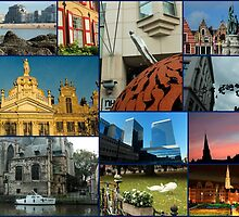 Collage from Belgium 3 - Travel Photography by JuliaRokicka