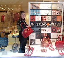 Salesgirl & Red Purse by Nedim Bosnic