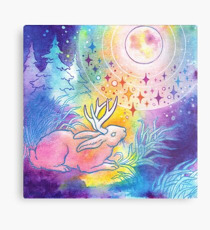 Jackalope of the Night Metal Print