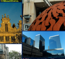 Collage from Belgium 3 - Travel Photography Sticker