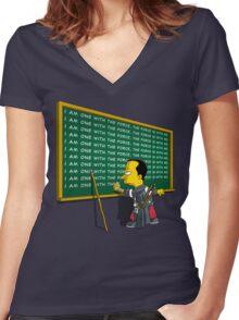 Chirrut Detention Women's Fitted V-Neck T-Shirt