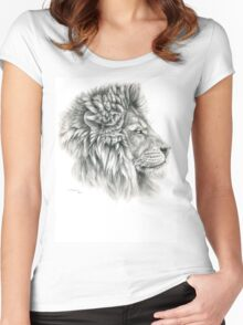King - Lions profile g044 by schukina Women's Fitted Scoop T-Shirt