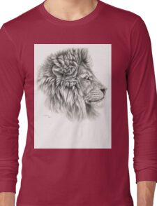 King - Lions profile g044 by schukina Long Sleeve T-Shirt