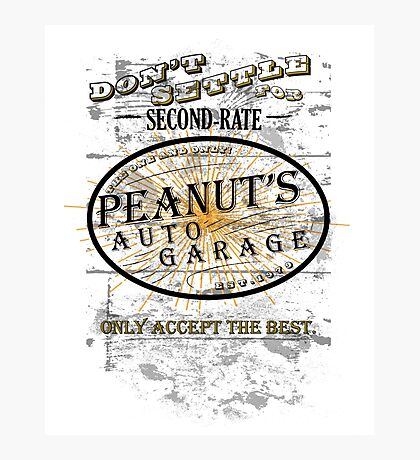 Peanut's Garage! Photographic Print