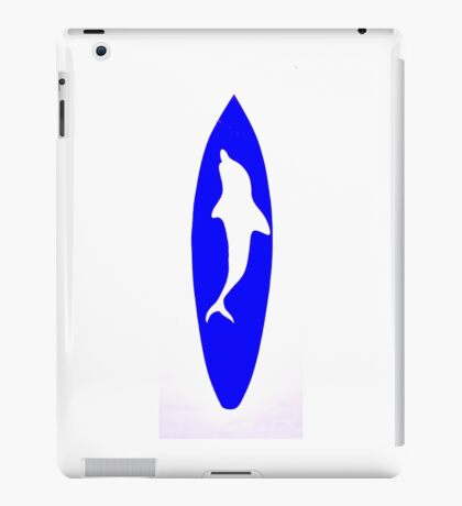 Dolphin Surfboard iPad Case/Skin