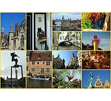 Collage from Belgium 4 - Travel Photography Photographic Print