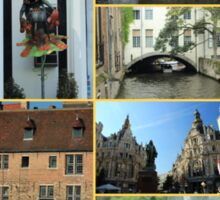 Collage from Belgium 4 - Travel Photography Sticker