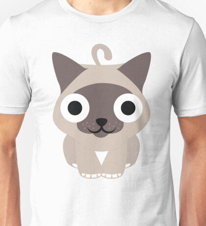 Birman Cat Emoji Happy and Eager Face Unisex T-Shirt