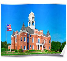 Macon County Courthouse - Oglethorpe Georgia Poster