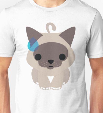 Birman Cat Emoji Sweat and Speechless Look Unisex T-Shirt