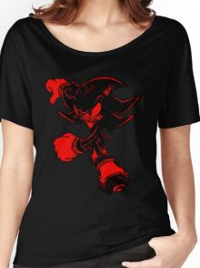 Shadow the Hedgehog [Black and Red] Women's Relaxed Fit T-Shirt