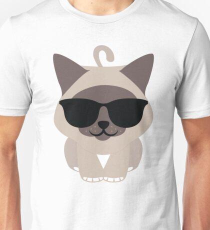 Birman Cat Emoji Cool Sunglasses Look Unisex T-Shirt