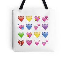 heart emojis ♡ Tote Bag