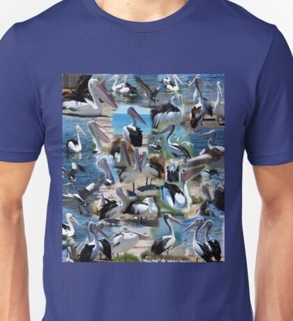 Pelican Lovers Photo Collarge  Unisex T-Shirt