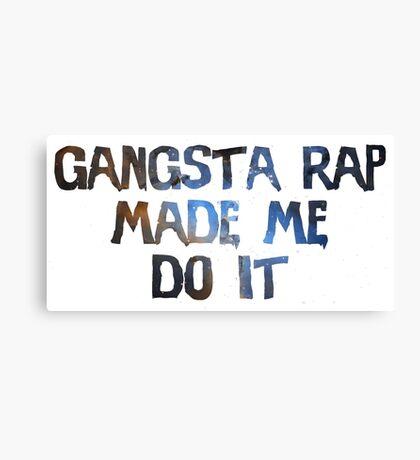 Gangsta rap Canvas Print