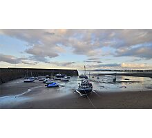 Exmoor: Low Tide at Minehead Harbour Photographic Print