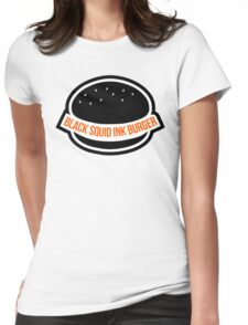 BLACK SQUID INK BURGER MERCH? Womens Fitted T-Shirt