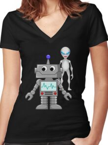 He's cool  Women's Fitted V-Neck T-Shirt