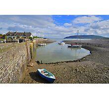 Exmoor: Low Tide at Porlock Weir Photographic Print