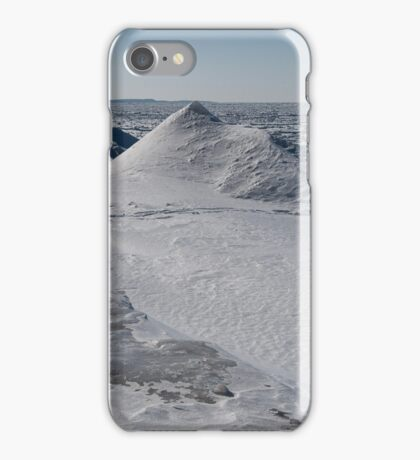 frozen tundra with giant snow sculptures  iPhone Case/Skin