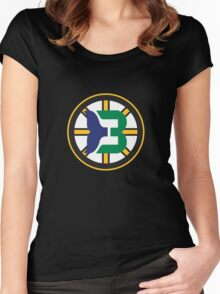 Boston Whalers - Hartford Bruins Women's Fitted Scoop T-Shirt