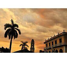 Plaza Mayor at Sunset - Trinidad, Cuba Photographic Print