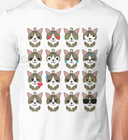 American Short Hair Cat Emoji Different Facial Expression Unisex T-Shirt
