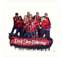 Don't Stop Believing || Glee Art Print