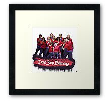 Don't Stop Believing || Glee Framed Print