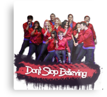 Don't Stop Believing || Glee Metal Print