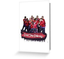 Don't Stop Believing || Glee Greeting Card