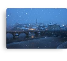 Snowfall at Dawn - Sarajevo, Bosnia and Herzegovina Canvas Print