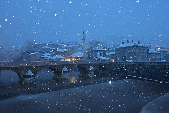 Snowfall at Dawn - Sarajevo, Bosnia and Herzegovina by Kasia Nowak