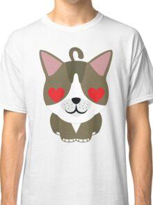 American Short Hair Emoji Heart and Love Eyes Classic T-Shirt