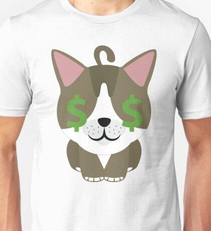 American Short Hair Cat Emoji Money Face Unisex T-Shirt