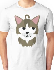 American Short Hair Cat Emoji Thinking Hard and Hmm Look Unisex T-Shirt