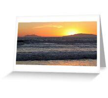 Sunset Waves Greeting Card