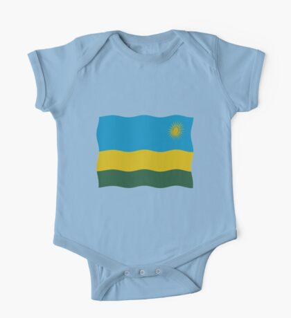 Rwanda flag One Piece - Short Sleeve