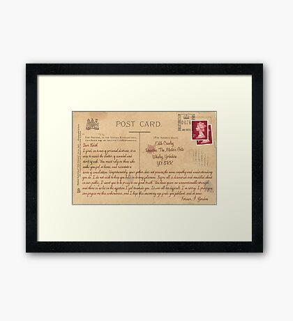 Dear Edith Crawley Framed Print