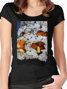 California Roll Sushi  Women's Fitted Scoop T-Shirt