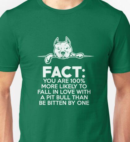 Pit Bull Fact Love  Unisex T-Shirt