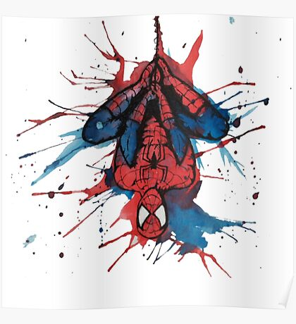 Spider-Man Homecoming Watercolor Poster