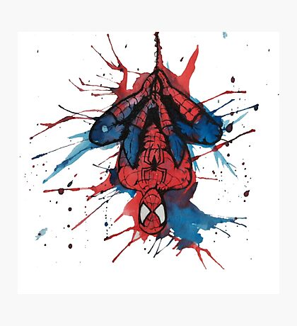 Spider-Man Homecoming Watercolor Photographic Print