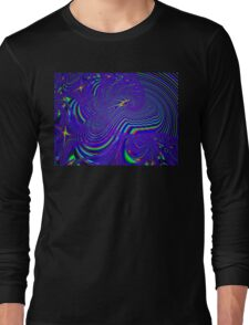 Sliding Phosphenes- Psychedelic Fractal Abstract Long Sleeve T-Shirt